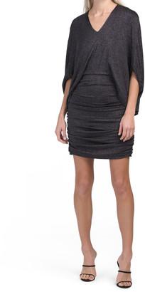 Dolman Sleeve Shimmer Dress