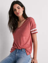 Lucky Brand V Neck Burnout Athletic Tee