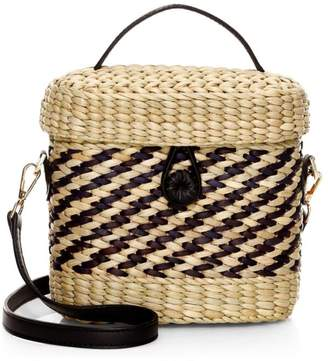 Poolside The Ashleigh Woven Straw Canteen Bag