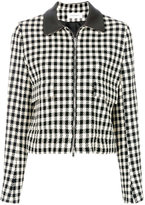 Wales Bonner checked cropped jacket