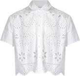 RED Valentino Sangallo cropped cotton shirt
