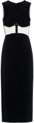 David Koma Embellished cut-out midi dress