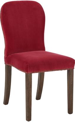 OKA Stafford Velvet Dining Chair - Blood Orange