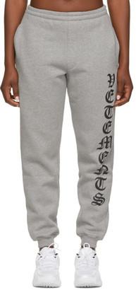 Vetements Grey Gothic Logo Lounge Pants