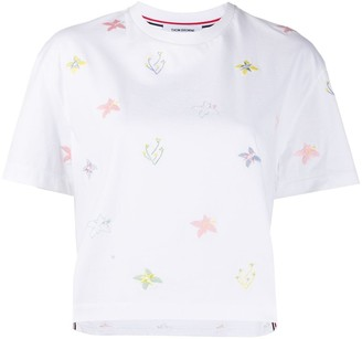 Thom Browne Floral Embroidery T-Shirt
