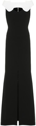 Roland Mouret Elly double wool-crepe gown