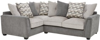 Orson Fabric Left Hand Double Arm Corner Group Scatter Back Sofa