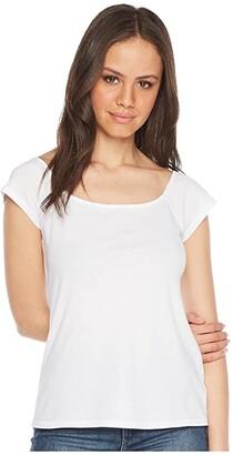 LAmade Imelda Off Shoulder Top (Black) Women's Short Sleeve Pullover