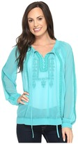Roper 0790 Georgette Blouse with Embroidery Women's Blouse