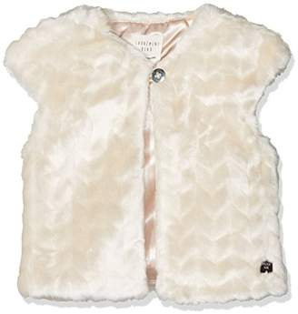 Carrément Beau Baby Girls' Gilet SANS Manches Sleeveless Jacket, Off-Size : 09 Months