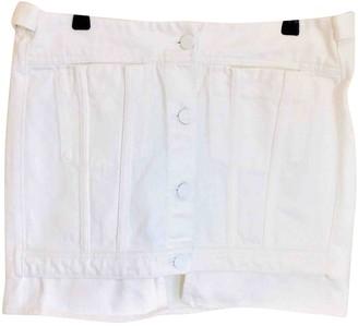 Acne Studios White Cotton Skirt for Women