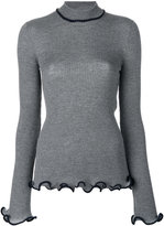 Stella McCartney ruffle trimmed turtleneck knit