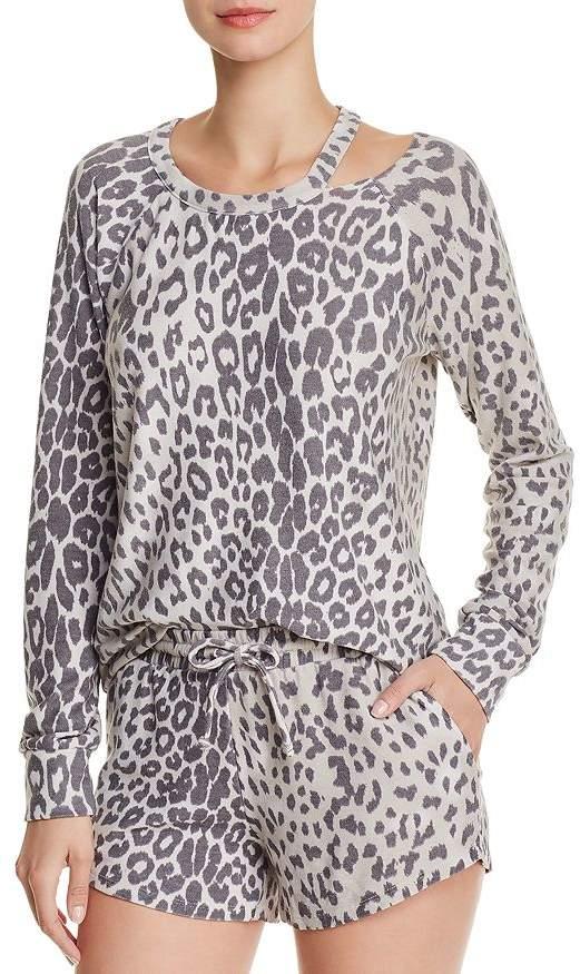 Chaser Cutout Leopard Sweatshirt
