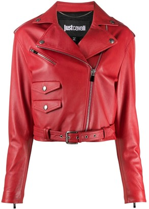 Just Cavalli Cropped Biker Jacket