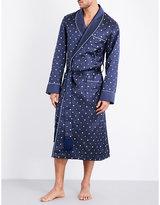 Derek Rose Verona Jacquard Silk Dressing Gown
