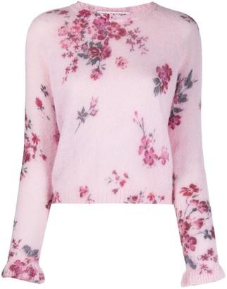 Philosophy di Lorenzo Serafini Floral-Print Knitted Jumper