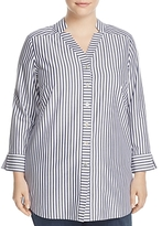 Foxcroft Plus Drew Preppy Stripe Top