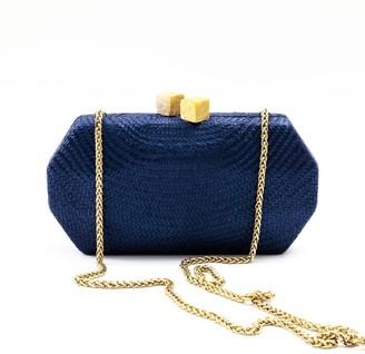 Likhâ Sarsuela Handwoven Clutch Navy Blue