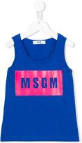 MSGM logo print tank top - kids - Cotton - 4 yrs