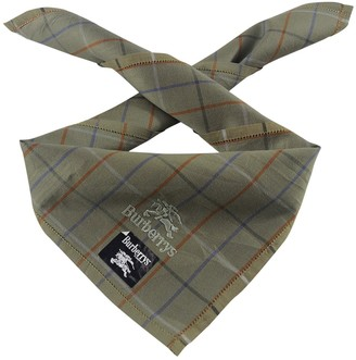 Burberry Green Cotton Scarves & pocket squares
