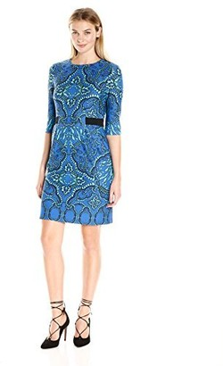 Gabby Skye Women's Sheath Dress with Tribal Print