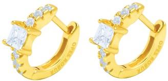 Opes Robur Gold Vermeil Princess Hoops
