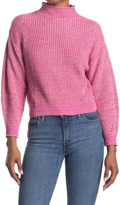 Abound Easy Stitch Ribbed Knit Mock Neck Sweater