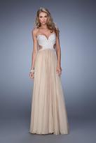 La Femme 21128 Chiffon Sweetheart A-line Dress