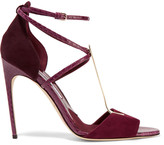 Brian Atwood Avice elaphe and suede sandals