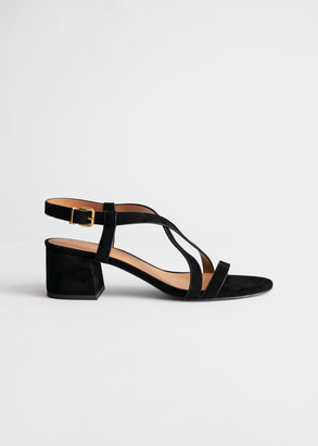 And other stories Suede Criss Cross Heeled Sandals