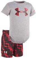 Under Armour Baby Boy Graphic Logo Bodysuit & Geometric Shorts Set