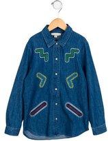 Stella McCartney Girls' Embroidered Denim Top