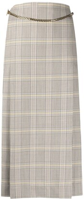 Victoria Beckham Plaid Midi Skirt