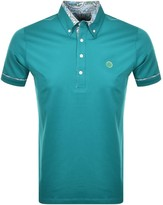 Pretty Green Short Sleeved Polo T Shirt Blue