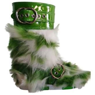 Miu Miu Green Faux fur Boots