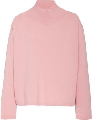 Mansur Gavriel Wool-Cashmere Mock Neck Sweater