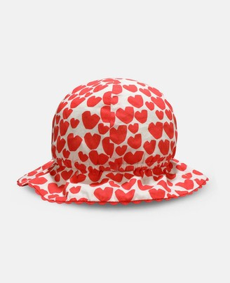 Stella McCartney Hearts Cotton Hat, Unisex