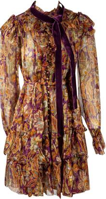 Zimmermann Ladybeetle Ruffled Lurex Mini Dress