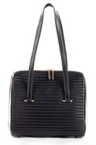 Celine Dion Vibrato Quilted Leather Satchel - Black