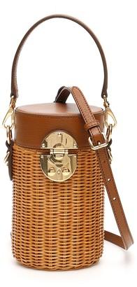 Miu Miu Wicker Cylinder Mini Bag