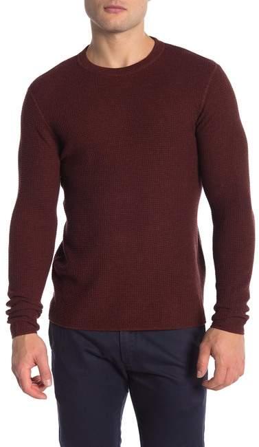 Original Penguin Waffle Knit Crew Neck Sweater