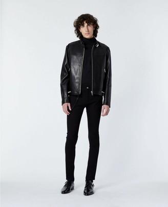 The Kooples Black leather jacket with biker collar