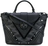Versace contrast texture satchel