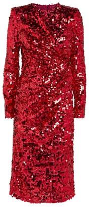 Dolce & Gabbana Sequin Midi Dress