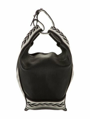 Elena Ghisellini Vainity Medium Slouchy Bucket Bag Black