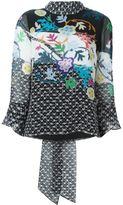 Peter Pilotto floral neck tie blouse - women - Silk - 6