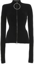 Emilio Pucci Ribbed Rhinestone Zipper Sweater