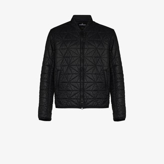 Stone Island Shadow Project Geometric Quilted Bomber Jacket