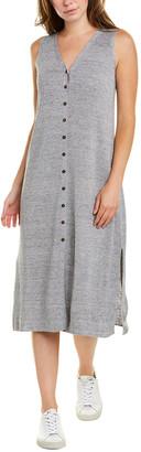 Lafayette 148 New York Button-Down Linen-Blend Midi Dress