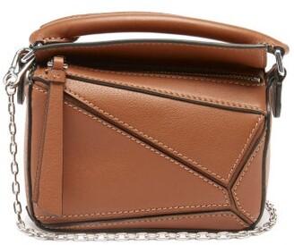 Loewe Puzzle Nano Leather Cross-body Bag - Tan
